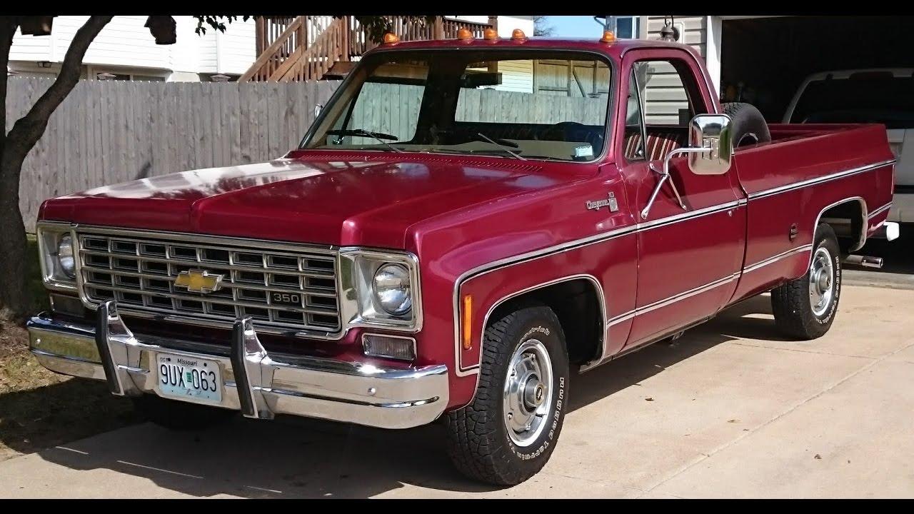 """1976 Chevy Cheyenne, Thrush 25"""" Glasspack"""