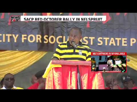 Deputy Ramaphosa addressing #SACP Red October rally