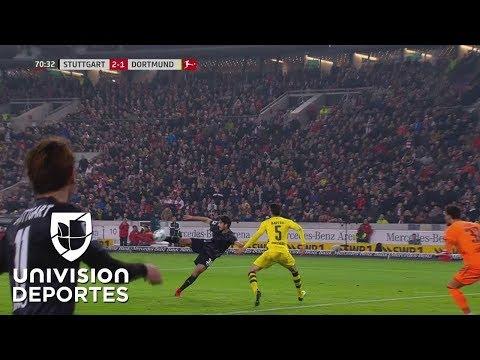 Stuttgart defendió su casa y sorprendió al Dortmund: aquí lo mejor del encuentro