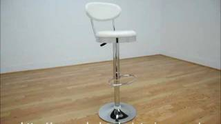 Wholesale Interiors Achilla White Adjustable Barstool