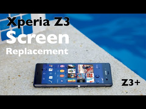 Sony Xperia Z3 Z3+ screen replacement - Z3 broken glass replacement video