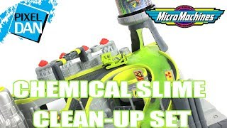 Micro Machines Chemical Clean-Up SLIME Playset Video Review