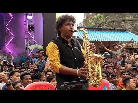 Prathamesh More Saxophone Instrumental at Chinchpokli cha Chintamani 2018 Patpujan
