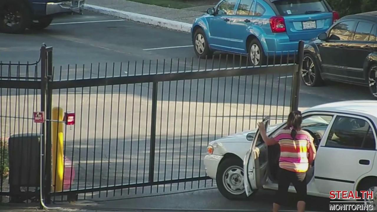 Car Crashes into Houston Apartment Gate