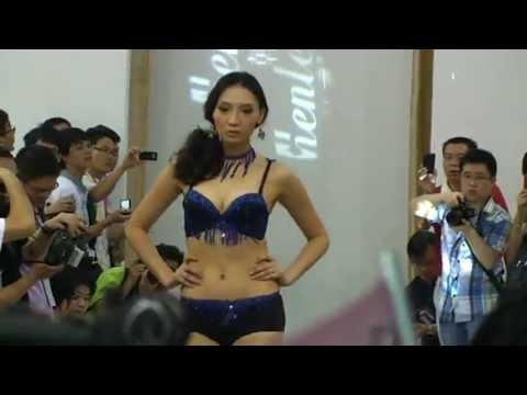 中国美人の下着ファッションショー