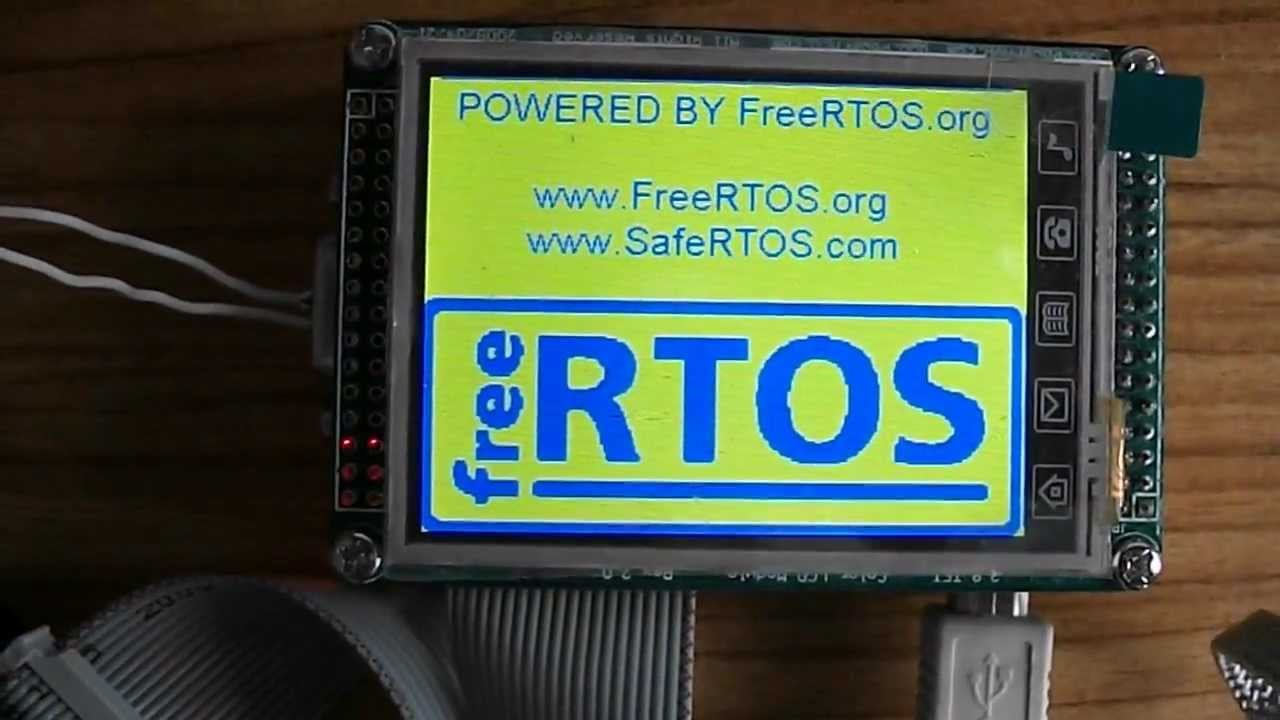 Freertos on stm mini board with lcd display youtube