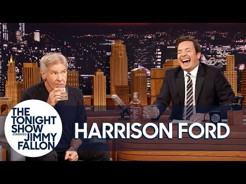 Harrison Ford sips scotch and out-jokes Jimmy Fallon