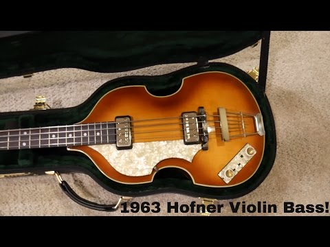 1963 German Hofner 500/1 Beatle Bass Unboxing!