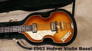 1963 German Hofner 500/1 Beatle Bass Unboxing!