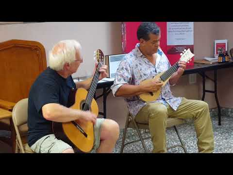 Puerto Rican aguinaldo on guitar and tiple