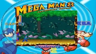 MegaMan 8 Saturn Edition (Reencuentro con dos viejos enemigos, CutMan y WoodMan)