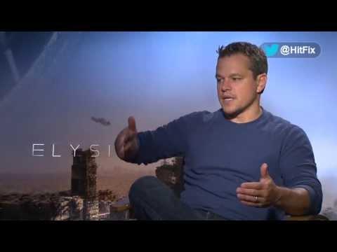 Matt Damon seems like a huge Sharlto Copley boy after their 'Elysium' experience