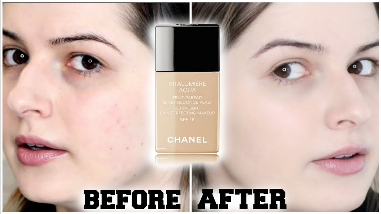 chanel vitalumiere aqua foundation wear test review youtube. Black Bedroom Furniture Sets. Home Design Ideas