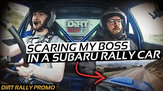 TRYING TO SCARE MY BOSS IN A SUBARU RALLY CAR | DiRT RALLY 2.0 AT PHIL PRICE RALLY SCHOOL