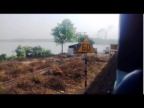 23348 Patna-Singrauli link express crossing Rihand River Bridge