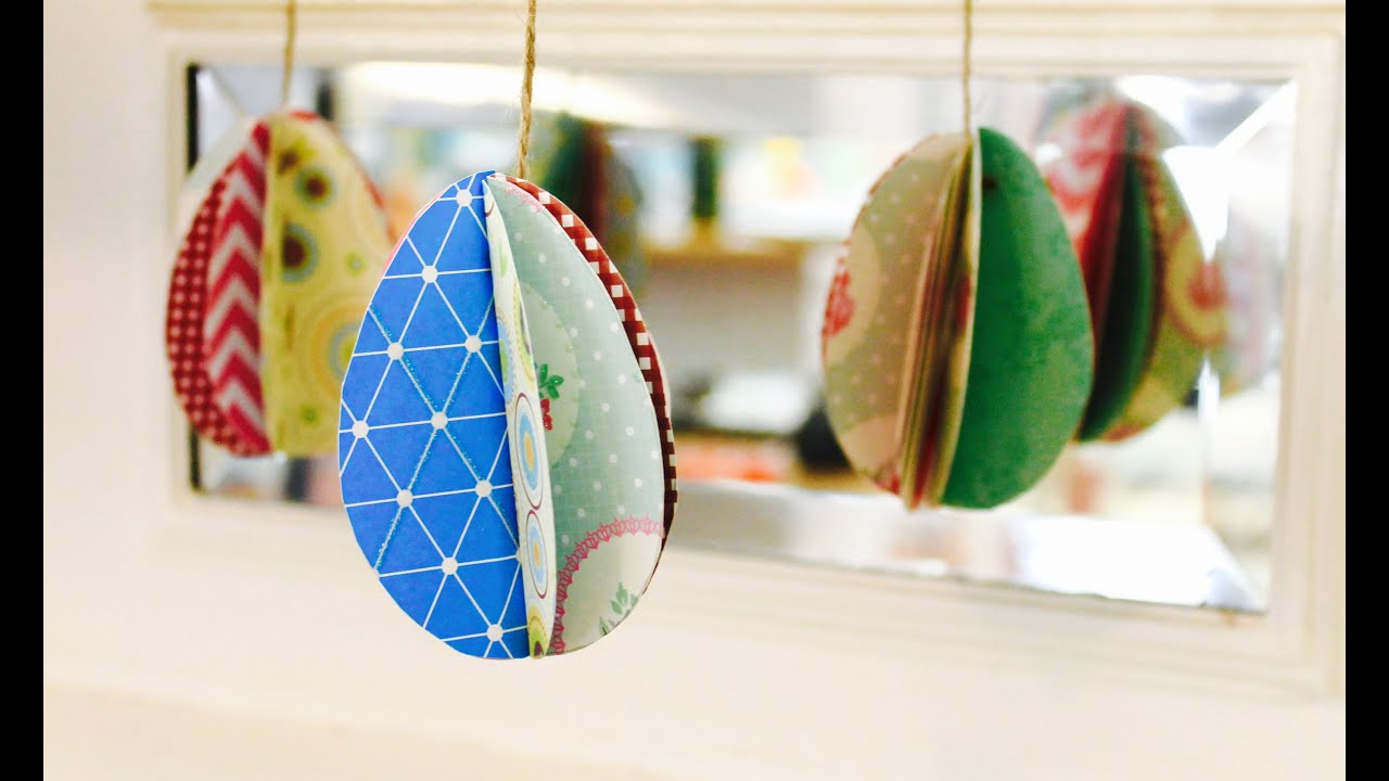 Easy Easter Craft How To Make 3D Paper Eggs