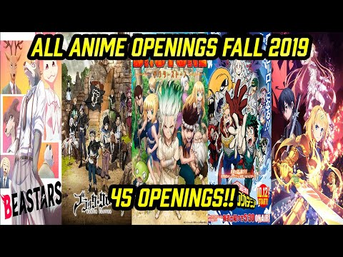 All Anime Openings Fall 2019