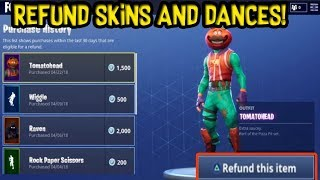 How To REFUND Skins for V-BUCKS! - Fortnite Battle Royale Xbox ONE / PS4