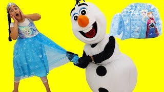 Gamze's new frozen Elsa house, Learn Colors With, funny kid video