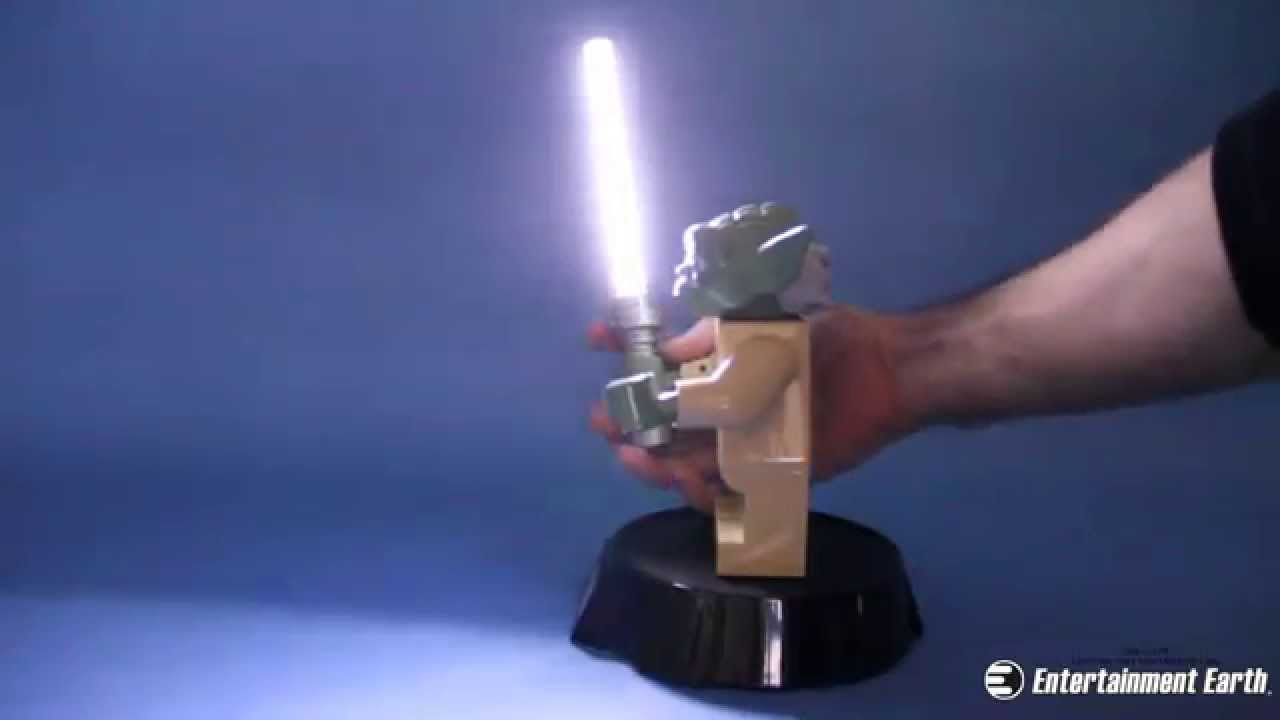 Lego Star Wars Yoda Led Desk Lamp Youtube