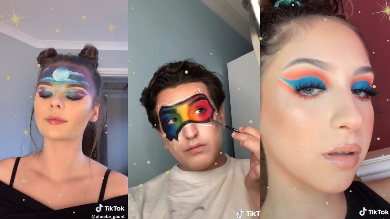 Pin By Paulasilvadominguez On Tick Tock Makeup Looks Cute Makeup Cool Halloween Makeup