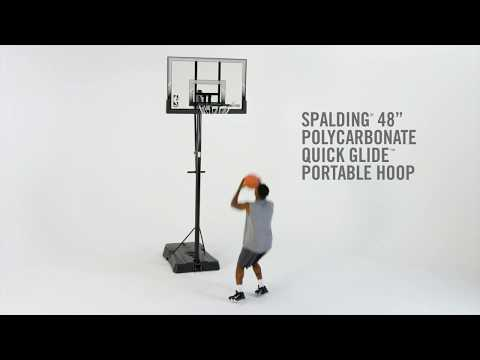 """spalding-quick-glide-portable-basketball-hoop-system---48""""-polycarbonate"""