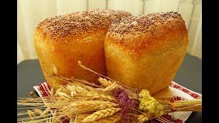 Пшеничный формовой хлеб на опаре пулиш ПОЛУЧАЕТСЯ ВСЕГДА Белый хлеб Кирпичик
