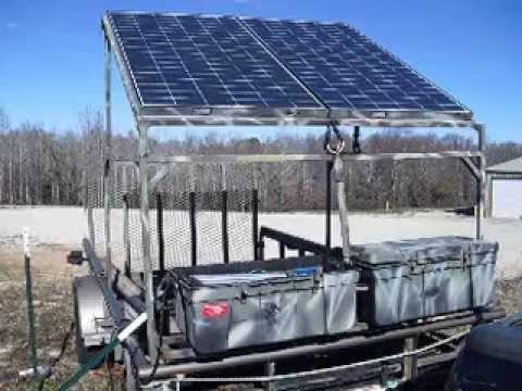 sportsman solar portable generator, welding, driven t-post