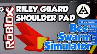 Roblox Bee Swarm Simulator - Riley Guard Shoulder Pad! (FREE PROMO CODES)