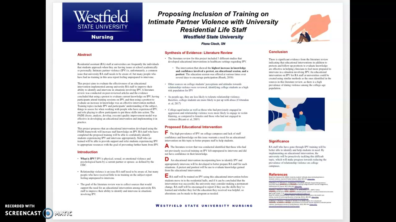 Proposing Inclusion of Training on Intimate Partner Violence with University Residential Life Staff