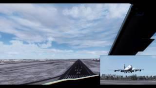 [FS2004-FS9] Timelapse - iFly 747v2 Lufthansa - Landing Frankfurt (EDDF/FRA)