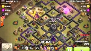 """Clash Of Clans - [Gowilaloon] Best Clan War Attack Strategy """"Town Hall 9"""" 3 star [Ep 6]"""