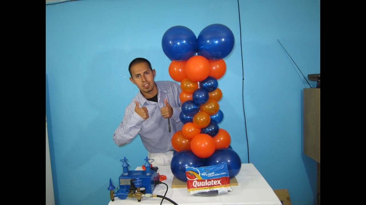 How to make a balloon column balloon decoration ideas for Balloon decoration ideas youtube