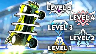 RL Coach Explains AIR ROLL In 5 Levels Of Difficulty
