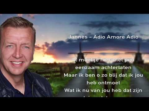 Jannes -  Adio Amore Adio (Lyrics Video)