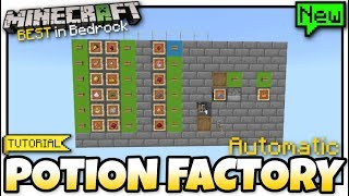 Minecraft Bedrock - POTION FACTORY/BREWER ?(Automatic)⚗️[ Tutorial ] MCPE / Xbox / PS4  / Windows
