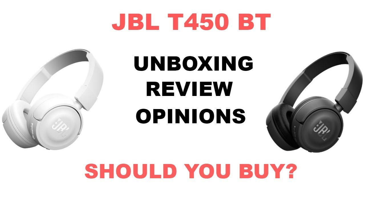 Jbl T450bt Bluetooth Headphones Unboxing Review White And Black Headphone
