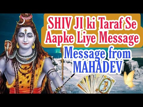 Message from SHIV Bhagwaan📿  🕉SHIV JI ki Taraf Se Aapke Liye Message🔱  Tarot+Oracle in Hindi