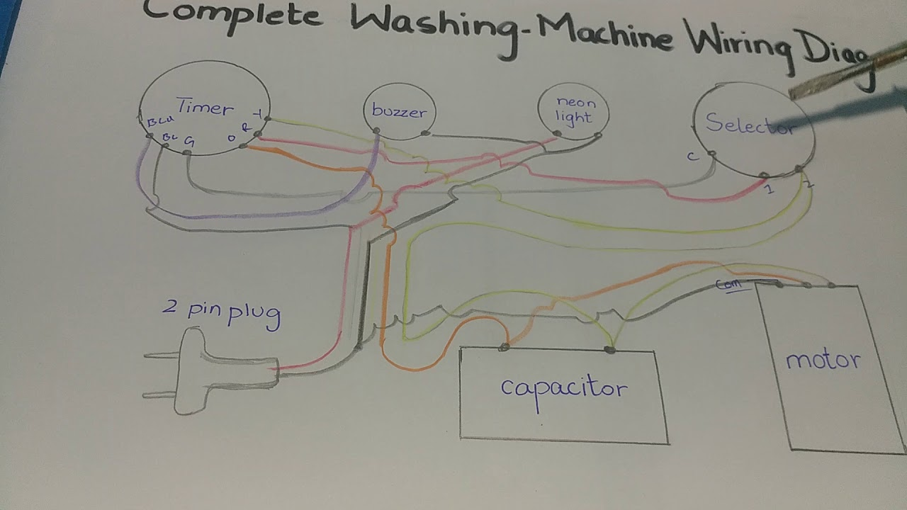 Washing Machine U0026 39 S Complete Wiring Diagram With Explanation