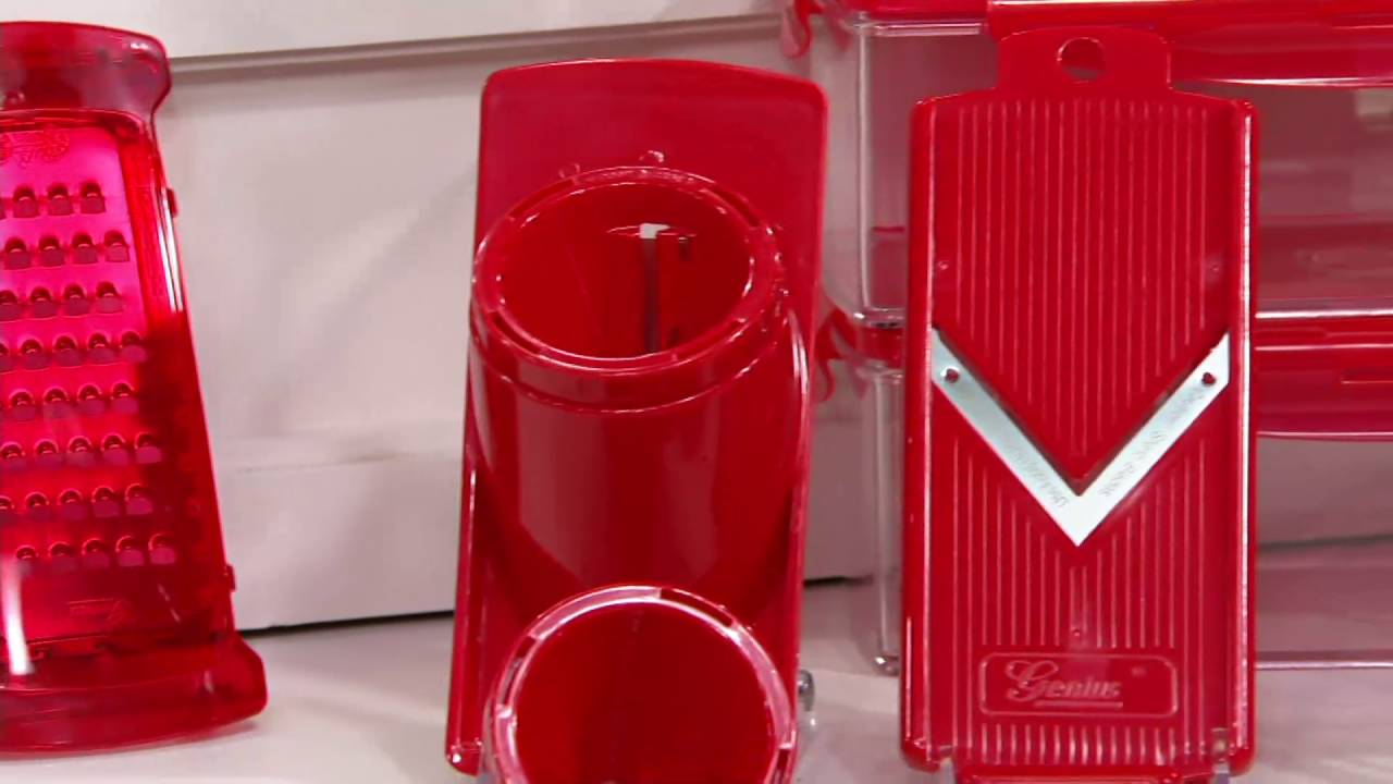 genius 6 cup nicer dicer plus w extra 6 cup container on. Black Bedroom Furniture Sets. Home Design Ideas