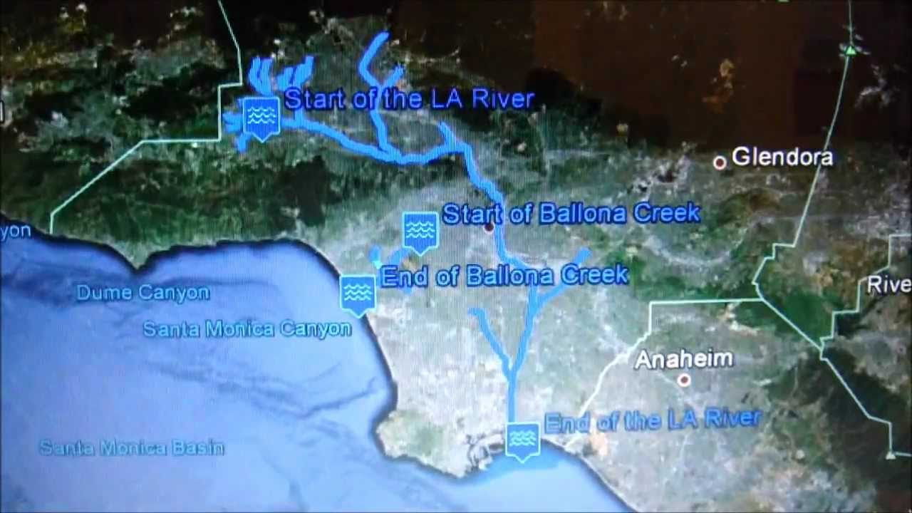 Mapping Out the LA River on Google Earth YouTube