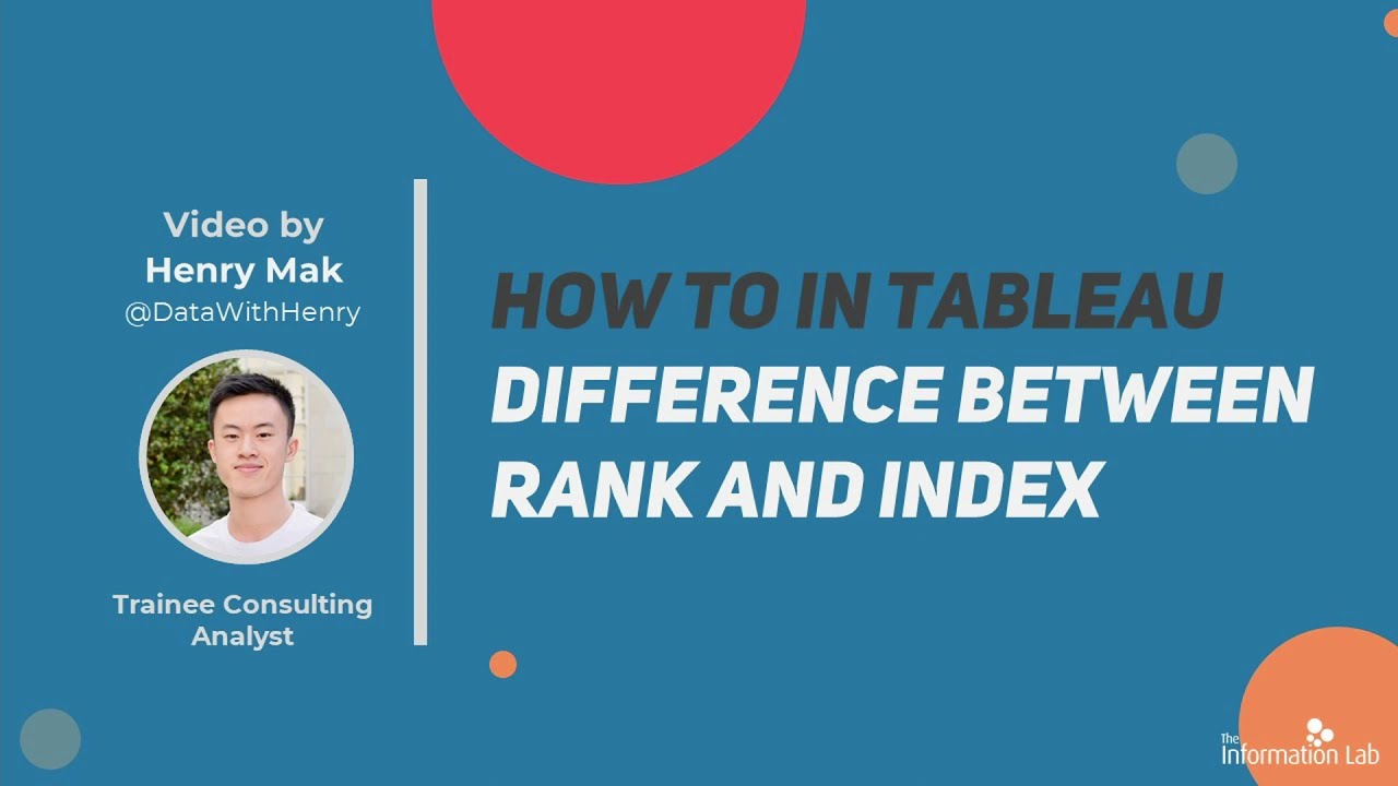 How to in Tableau in 5 mins: Rank vs Index Functions