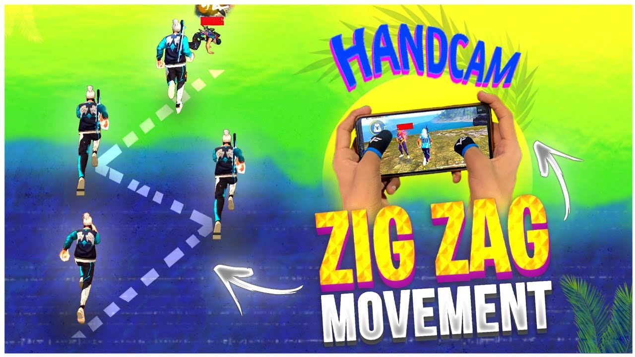 Zig Zag Movement Trick Free Fire 🔥 - Handcam   One Tap + Zig Zag Movement   Raistar Movement Trick 👽