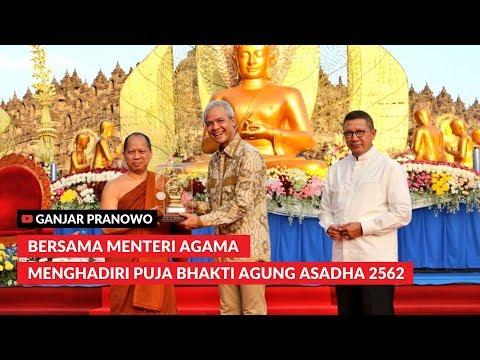 (Ganjar Pranowo Vlog) Bersama Menteri Agama Menghadiri Puja Bhakti Agung Asadha 2562