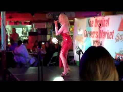 Transgender or Halloween Tranny Singing Karaoke