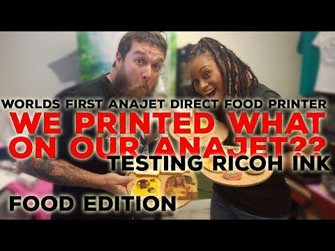 The Worlds First Anajet Food Printing Machine Featuring Ricoh Ink