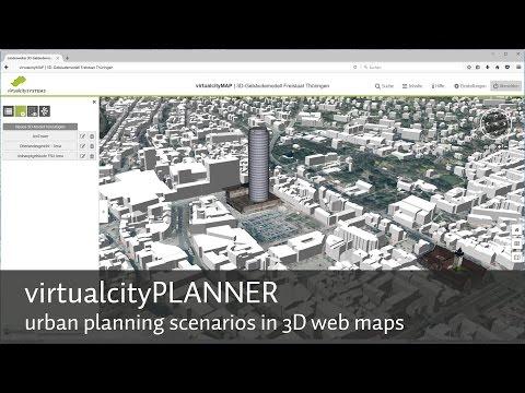 Urban planning scenarios in 3d web maps - virtualcityPLANNER
