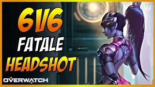 6V6 FATALE ONLY HEADSHOT ! Overwatch
