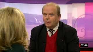 Eskil Erlandsson (C) frågas ut om hästkött i lasagn i februari 2013