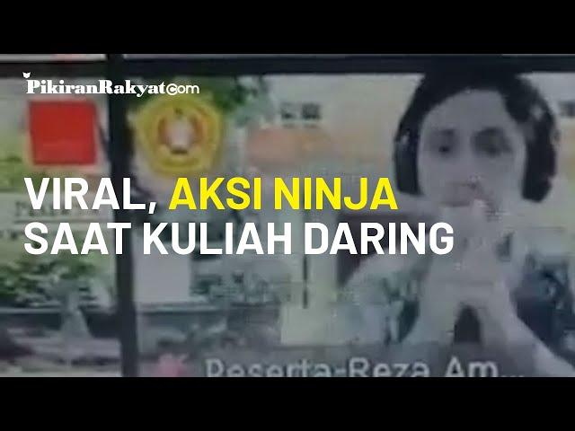 Video Viral, Tingkah Kocak Seorang Mahasiswa, Gunakan Jurus Ninja dan Menghilang dari Kelas Daring